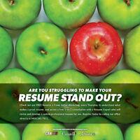 FREE RESUME DEVELOPMENT & COVER LETTER WORKSHOP
