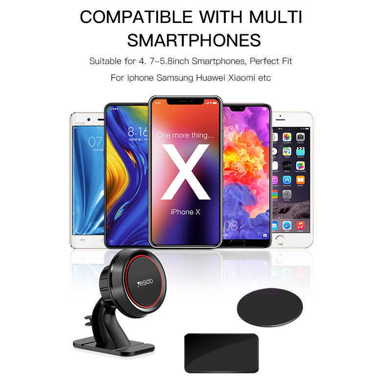 Yesido Magnetic Car Phone Holder For iPhone Samsung 360 Degree GPS Magnetic Mobi