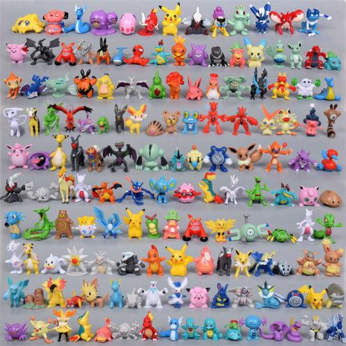 24//72//144PCS Pokemon Action Figure Mini Séries PVC Jouet No Repeat 2-3CM