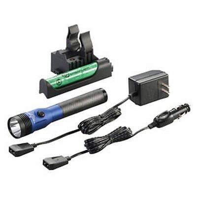 Streamlight Stinger Led Hl Rechargeable Flashlight W/ Piggyback Charger, Blue