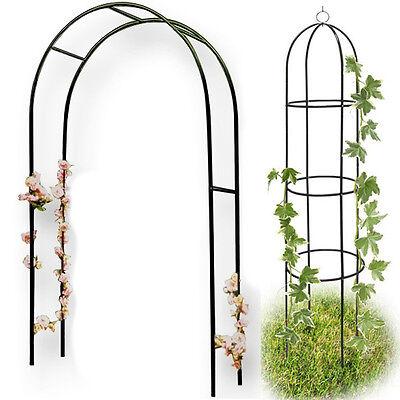 Arco obelisco per piante rampicanti rose decorazione arredo giardino supporto