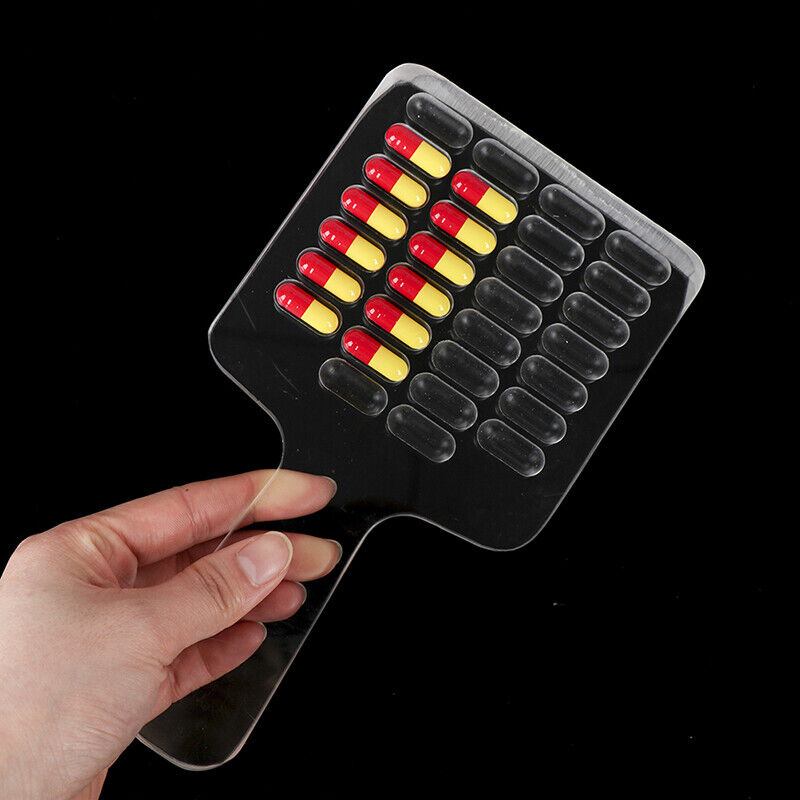 10/30 Count Medicine Pill Counting Acrylic Tray Capsule Counter Holding Tray&
