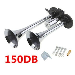 NEW,,,Truck Train Boat RV 150db Super Loud Dual Trumpet Air Horn