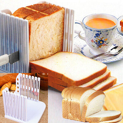 UK Kitchen Portable Bread Toast Slicer Cutter Maker Mold Kitchen Guide Slicing