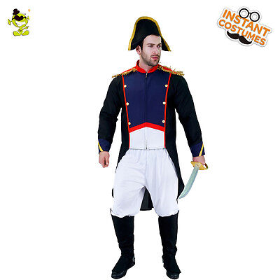 Men's Cool Napoleon Costume Adult Brave French Emperor Cosplay Outfit for Party