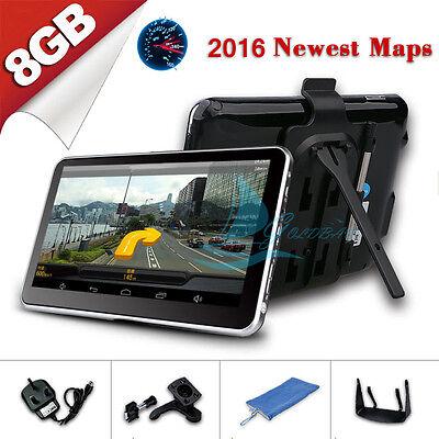 New 128MB 8GB FM Touch Screen Car GPS Navigation SAT NAV FM POI UK EU Free Maps
