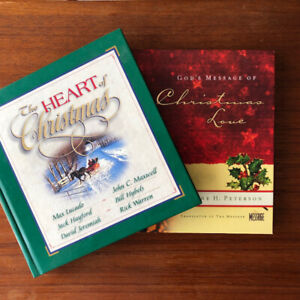 2 Inspirational Christmas Books - Christian  Excellent Condition