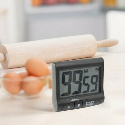 Magnetic Kitchen Cooking Timer LCD Large Up Count-Down Alarm Loud Clock Digital