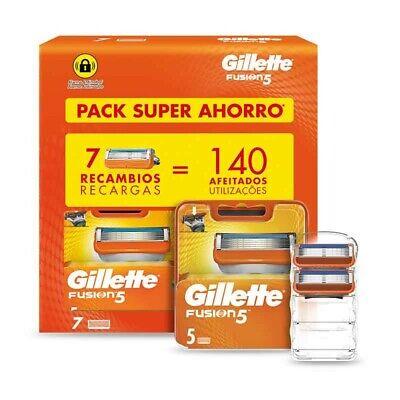 Gillette Fusión 5 Recambios Maquinilla Afeitar Pack 7 uds - Hasta 140...
