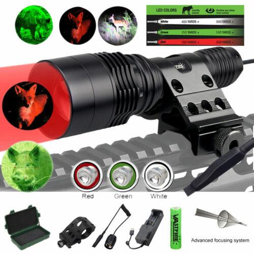 ZOOM Red Led Hunting Light Kit 500+ yards Coyote Varmint Hog