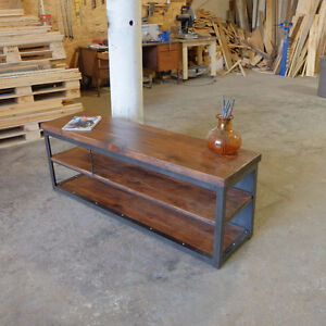 Industrial Media Console/Credenza Steel and Wood London Ontario image 6