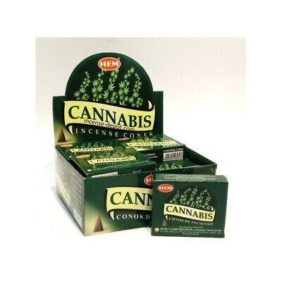 Hem Cannabis Räucherkegel Bulk Lot 12 Packung mit 10 Kegel 120 Insgesamt