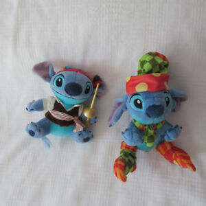 DISNEY LILO & STITCH LOT 2 PELUCHES PIRATE ET LUTIN