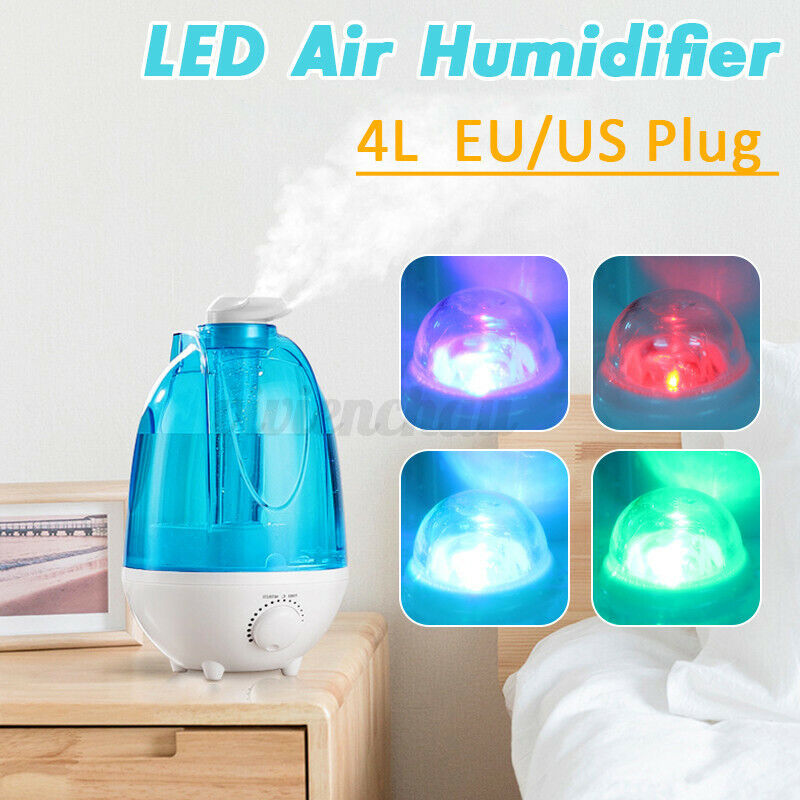 4L Ultrasonic Air Humidifier Diffuser Colorful LED Light Home Office