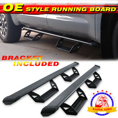 nerf bars side step for chevy silverado crew cab running boards gmc sierra 07-18