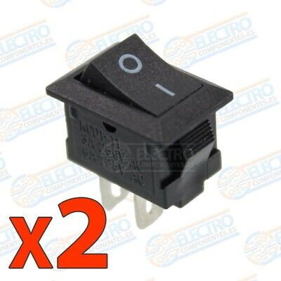 Mini Interruptor ON OFF 3A 220v - NEGRO - Lote 2 unidades - Arduino Electronica