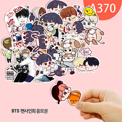 Kpop Cartoon Bangtan Boys Bts J Hope Rm Jung Kook Decal Stickers Scrapbook Set