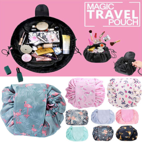 Details about UK STOCK Portable Makeup Drawstring Bags Storage Magic Travel Pouch Cosmetic Bag