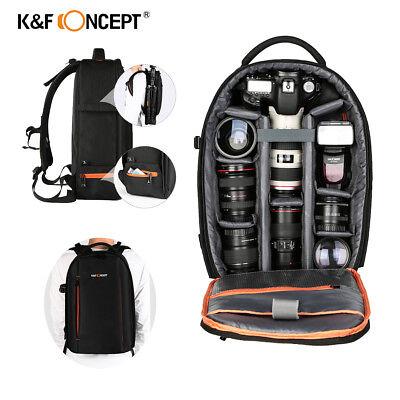 K&F Concept Camera Backpack Bag Waterproof Large Capacity for Nikon Canon DSLR