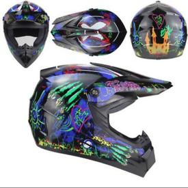 AHP 225 motorcycle motorcross helmet blue