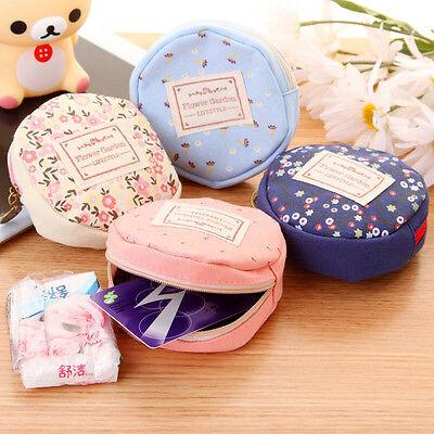 Damen Junge Storage Nette Floral Münze Runde Kleine Tasche ändern Geldbörse Etui ()