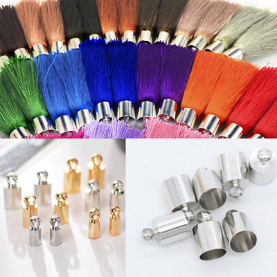 Diy Tassel Necklace (20pcs Metal DIY Necklace End tips Tassel Caps Beads Connectors Jewerly)
