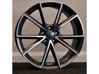 "19"" RS4-C Style Alloy Wheels & Tyres. Seat Leon, Audi A3. VW Passat, Jetta, Golf MK5, MK6, MK7,Caddy"