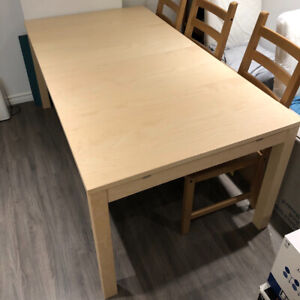 IKEA dining set - Great condition - Table + 6 chairs