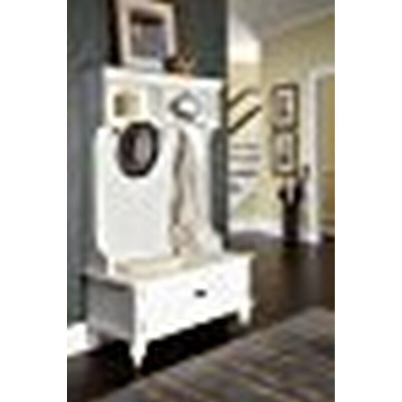 Home Styles Bermuda Hall Tree Stand Brushed White 5543-49 NEW