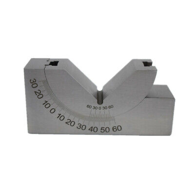 Milling Precision Mini Adjustable Angle V Block 0-60 Vice Grip Holding Clamp