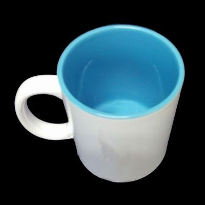 (1,39€/1Stk) Sublimation 36 Stück Kaffee Tassen Becher WEISS - INNEN BLAU günsti Blau Weiß Mugs