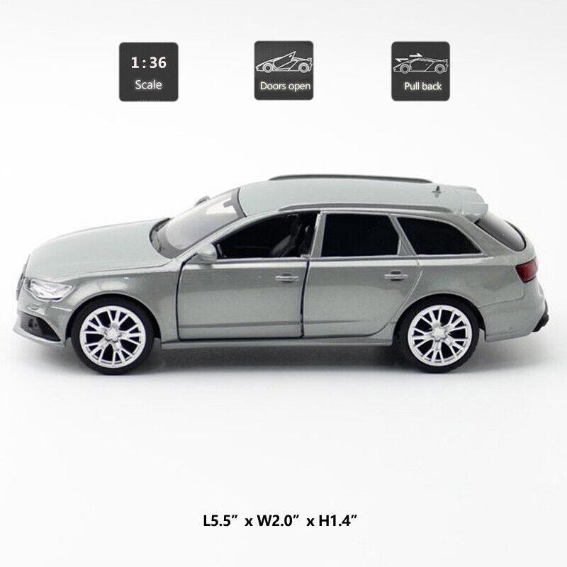 1:36 Audi RS 6 Avant Model Car Metal Diecast Gift Toy Vehicle Kids Pull Back New