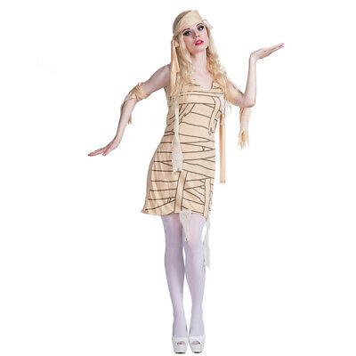 Fancy Dress Mummy (Women's Mummy Costume Ladies Egyptian Fancy Dress Cosplay Halloween Party)