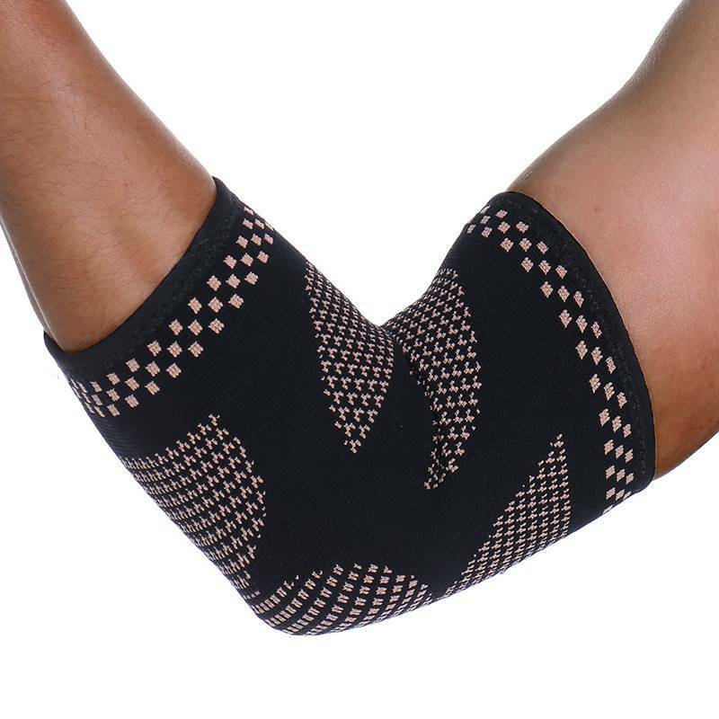 Copper Brace Fit Compression Sleeve Tendonitis Pain Tennis Golfer