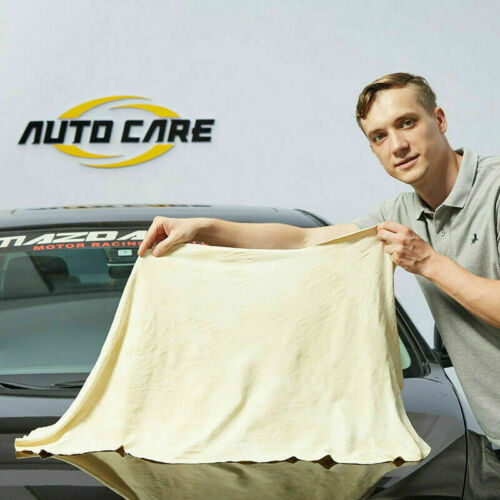60x90cm Large Natural Leather Chamois Car Drying Towel Absor