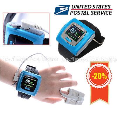 Fdace Wrist Pulse Oximeter Cms50f Spo2 Monitor Oled Usbswalarm Sale Contec