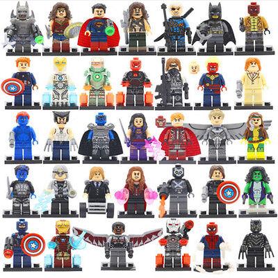 34Pcs MiniFigures Lego Super Heroes MARVEL.DC Series Batman Superman Hulk New