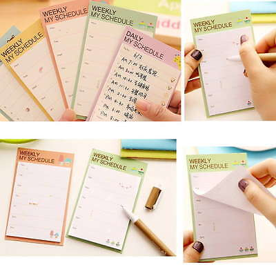 Weeklydaily Planner Sticker Sticky Notes Memo Pad Schedule Check List