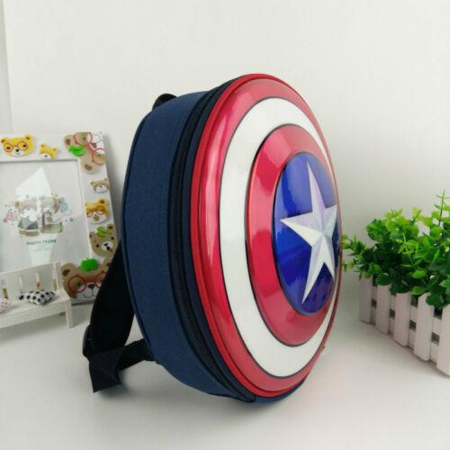 e61d3845139c Captain America Shield Backpack Marvel Avengers Superhero School Bag Kids  Boys