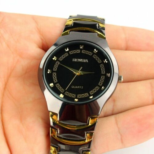 $4.17 - Luxury Fashion Mens Stainless Steel Band Sport Quartz Analog Wrist Watches_US IC