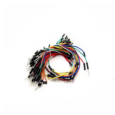 New Male To Male Solderless Flexible Breadboard Jump Cable Wires 65pcs Cables