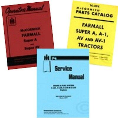 Farmall Super A Service C-123 Operators Parts Manual Ih