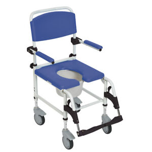 BRAND NEW IN BOX Aluminum Shower Commode Chair