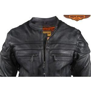 Mens Racer Jacket with many Pockets  BLACK BEAUTY