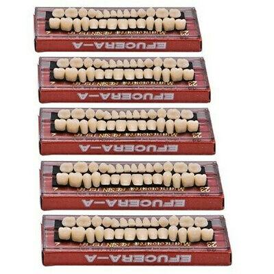 280ps Acrylic Resin Denture 23 A2 Dental Full Set Teeth Upper Lower Shade Tooth