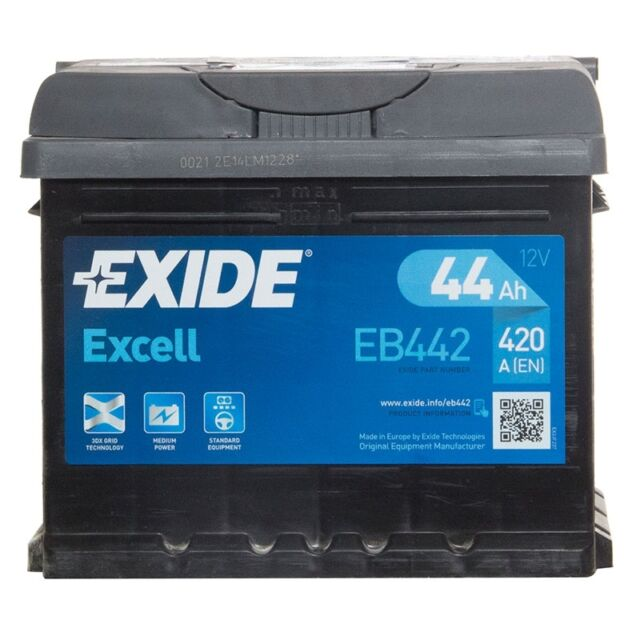 3 Years Warranty Sealed Exide Excell Car Battery 12V 44Ah Type 063 420CCA