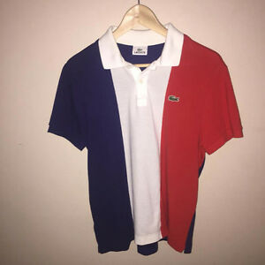 100% Authentic French flag polo Lacoste for men !!! Super rare