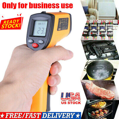 Us Digital No-touch Lcd Ir Laser Industrial Infrared Temperature Thermometer Gun