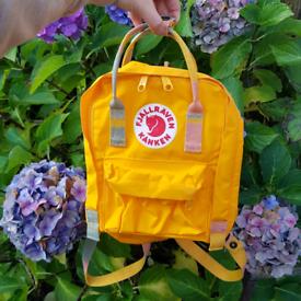 Genuine Fjallraven Kanken Mini Warm Yellow Backpack