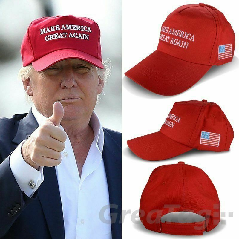 DONALD TRUMP 2016 MAKE AMERICA GREAT AGAIN HAT REPUBLICAN EMBROIDERED US FLAG